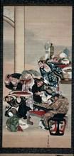 Operating on Guanyu's Arm, 1840s. Creator: Katsushika ?i (Japanese, about 1800-after 1857).