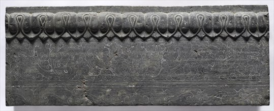 Section of a Coffin Platform: Horizontal Panel, 550-577. Creator: Unknown.