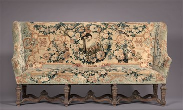 Set of Four Chairs and Settee, c. 1715. Creator: Royal Savonnerie Manufactory, Chaillot Workshops (French, est. 1627).