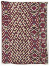 Silk Ikat Wall Hanging (#333), third quarter of the 1800s. Creator: Unknown.