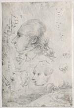 Studies of Heads (verso), c. 1820s(?). Creator: Thomas Monro (British, 1759-1833).