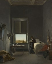 The Artist in His Room at the Villa Medici, Rome, 1817. Creator: Léon Cogniet (French, 1794-1880).