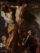 The Crucifixion of Saint Andrew, 1606-7. Creator: Caravaggio (Italian, 1571-1610).