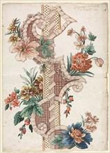 Vertical Decorative Floral Band, 1773. Creator: Giacomo Cavenezia (Italian).