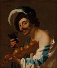 Violin Player with a Wine Glass, 1623. Creator: Dirck van Baburen (Dutch, c. 1595-1624).