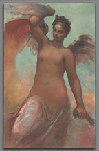 Winged Fortune, 1878. Creator: William Morris Hunt (American, 1824-1879).