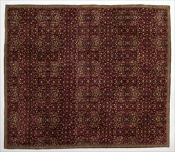 Woolen carpet with millefleurs decoration, early 1600s. Creator: Unknown.