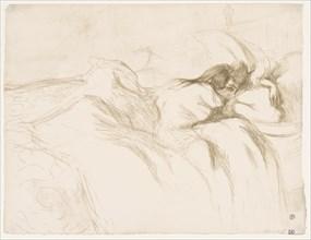 Elles: Woman Sleeping, 1896. Creator: Henri de Toulouse-Lautrec (French, 1864-1901).