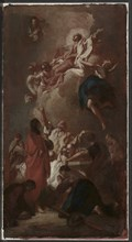 "Sketch for ""The Assumption of the Virgin"" (for St. James, Zbraslav, near Prague)?, c. 1744. Creator: Giovanni Battista Piazzetta (Italian, 1682-1754)."