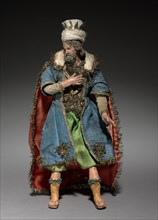 Figure from a Crèche: Magus, 1780-1830. Creator: Unknown.
