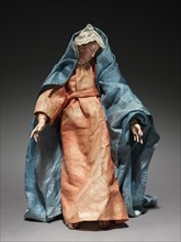 Figure from a Crèche: Virgin Mary, 1780-1830. Creator: Unknown.