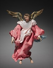 Figure from a Crèche: Angel, 1780-1830. Creator: Unknown.