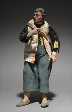 Figure from a Crèche: Standing Man, 1780-1830. Creator: Unknown.