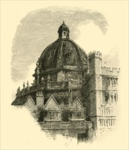 'The Radcliffe Library, from the Quadrangle of Brasenose', 1898. Creator: Unknown.