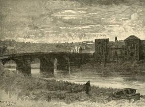 'Newport Bridge and Castle', 1898. Creator: Unknown.