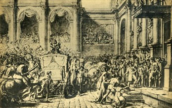 Reception of the Emperor and Empress at the Hôtel de Ville, Paris, c1804, (1921). Creator: Jacques-Louis David.