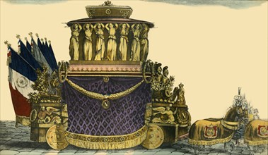 Napoleon's funeral carriage, 1840, (1921). Creator: Unknown.