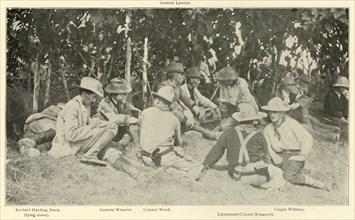 "'Conference After ""Rough Riders"" Battle', Spanish-American War, June 1898, (1899). Creator: Burr McIntosh."