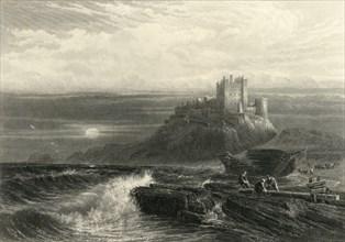 'Bamborough Castle', c1870.