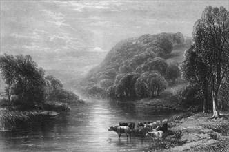 'On the Dart, near Totnes', c1870.