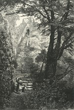 'Staircase to Carisbrook Keep', c1870.