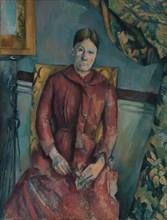Madame Cézanne (Hortense Fiquet, 1850-1922) in a Red Dress, 1888-90. Creator: Paul Cezanne.