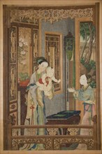 Interior with Woman, Child and Nurse, late 18th-early 19th century. Creator: Unknown.
