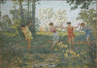 Eurydice Bitten by a Snake, 1913. Creator: Roussel, Ker-Xavier (1867-1944).