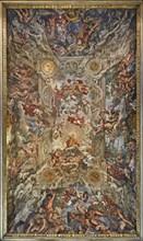 The Triumph of Divine Providence and the Fulfilment of its Purposes under Pope Urban VIII, 1632-1639 Creator: Cortona, Pietro da (1596-1669).