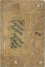 Nasta'liq Calligraphy, First Half of 16th cen.. Creator: Mir Ali Haravi (Heravi) (active first Half of 16th cen.).