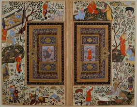 Double page. Iran, Isfahan , Early 17th cen.. Creator: Iranian master.