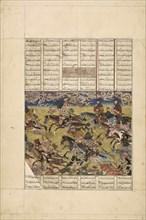 Demotte Shahnameh: Faramarz pursues the king of Kabul, ca 1330. Creator: Iranian master.