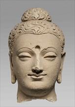 Buddha Head, 3rd-4th cent.. Creator: Central Asian Art.
