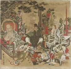 The Sixteen Arhats (Juroku Rakan). Creator: Kazunobu, Kano (1816-1863).