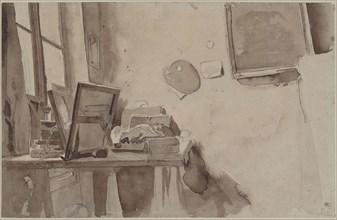 A corner of studio, ca 1825. Creator: Delacroix, Eugène (1798-1863).