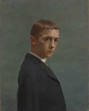Self-Portrait at the Age of Twenty (Autoportrait à l?âge de vingt ans), 1885. Creator: Vallotton, Felix Edouard (1865-1925).