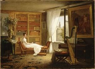 Salon of Madame Récamier at the Abbaye-aux-Bois, 1826. Creator: Dejuinne, François-Louis (1786-1844).