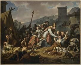 Monsiau, Le Dévouement de Monseigneur de Belzunce durant la peste de Marseille en 1720