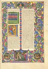 The Bible of Borso d'Este, 1455-1461. Creator: Girolamo da Cremona, (Girolamo de'Corradi) (active 1451-1483).