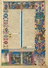 The Bible of Borso d'Este, 1455-1461. Creator: Crivelli, Taddeo (1425-1479).
