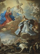 Saint Januarius Interceding to the Virgin Mary, Christ and God the Father for Victims of the Plague, Creator: Giordano, Luca (1632-1705).