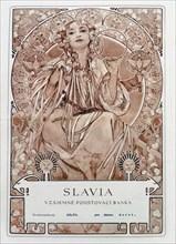 Insurance policy of of Slavia Insurance Company, 1942. Creator: Mucha, Alfons Marie (1860-1939).