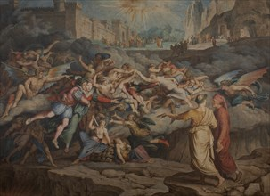 Dante and Virgil in the Second Circle of Hell, 1823. Creator: Koch, Joseph Anton (1768-1839).