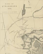 Map of the Siege of Strasbourg, 1870, (c1872).  Creator: R. Walker.