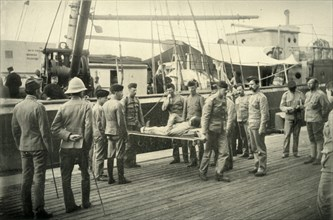 'Arrival at Cape Town of Wounded from Natal', 1900. Creator: Hosking.