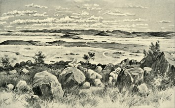 'In Beleaguered Ladysmith - Watching for Buller from Observation Hill', 1900. Creator: Melton Prior.