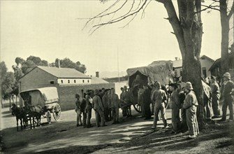 'Conveying Wounded to Wynberg Hospital Camp', 1900. Creator: Alf S Hosking.