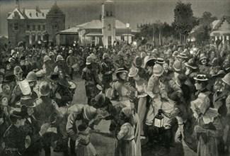 'The British Occupation of Bloemfontein - An Evening Concert', 1900. Creator: A Forestier.