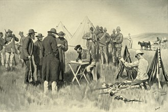 'Boers Taking the Oath of Neutrality at Greylingstad', 1901. Creator: Henry Marriott Paget.