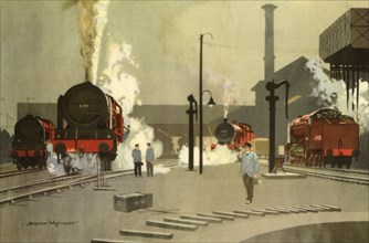'Camden Town Engine Sheds, c. 1935', (1945).  Creator: Norman Wilkinson.